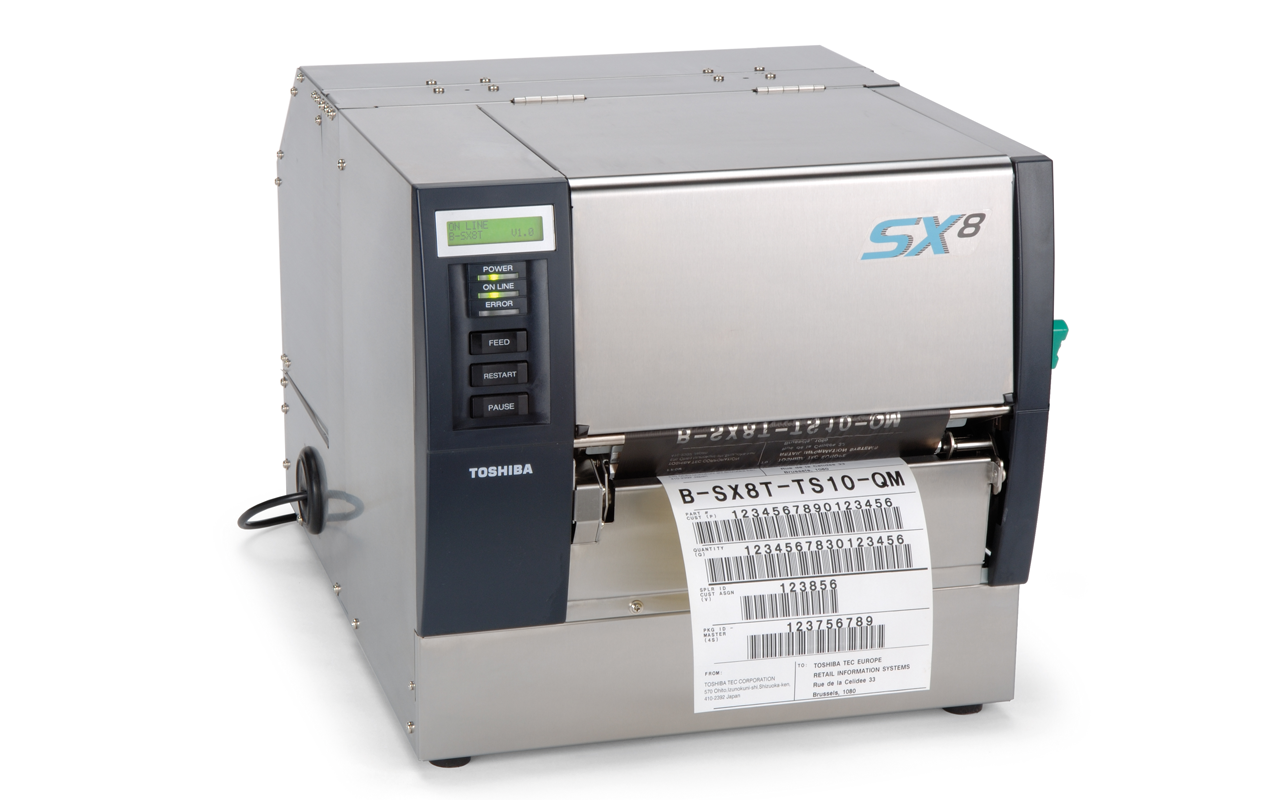 Toshiba B-SX8 industrial barcode label printer